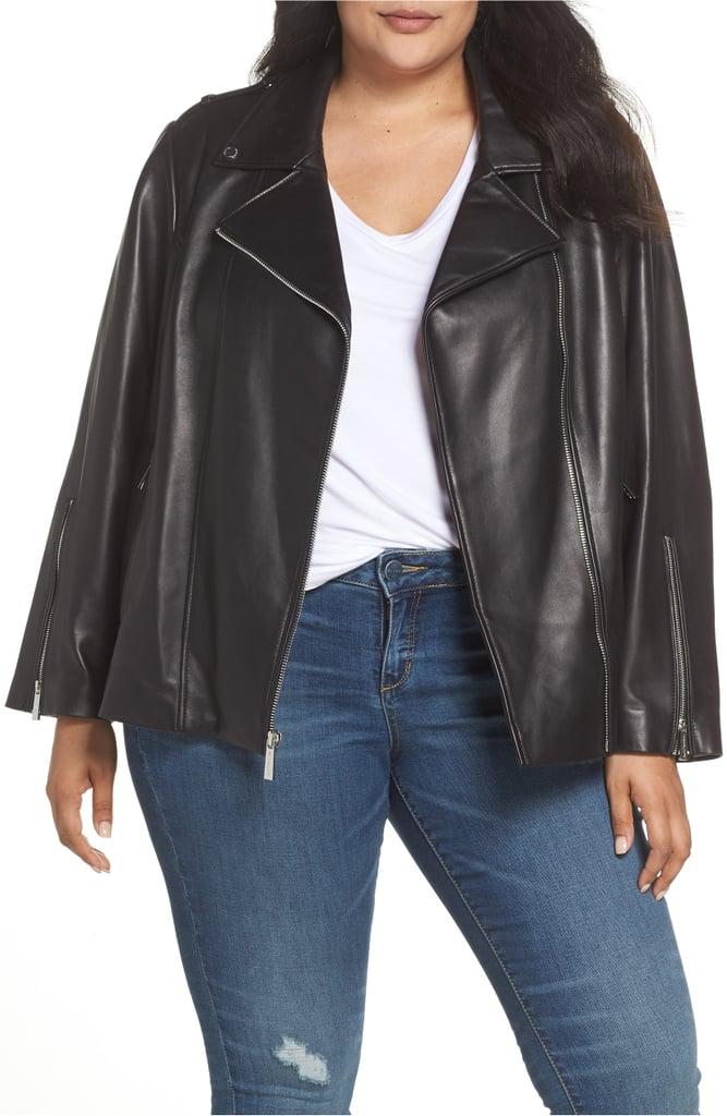 315c5dd789a6 Michael Kors Classic Leather Moto Jacket | Nordstrom Anniversary ...