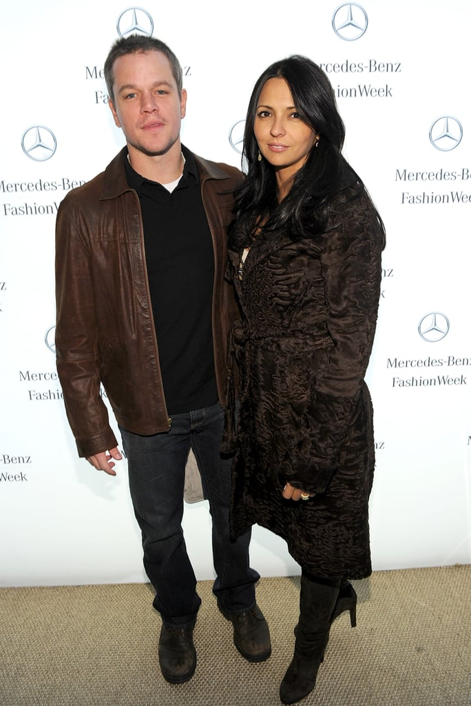 Matt and Luciana Damon caught the Naeem Khan presentation on Valentine's Day.