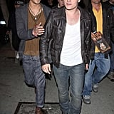Josh Hutcherson and a friend attended the bash.