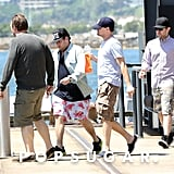 Leonardo DiCaprio and Jonah Hill boarded a yacht.