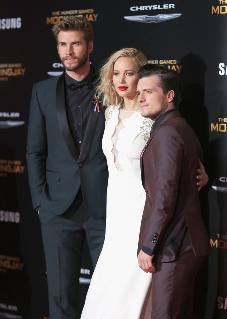Pictured: Josh Hutcherson, Liam Hemsworth, and Jennifer Lawrence