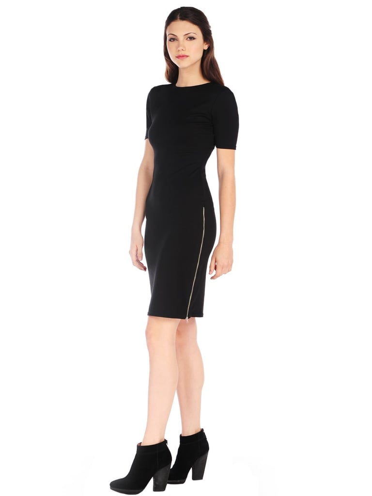 RD Style Short Sleeve Dress With Exposed Zipper ($68)
