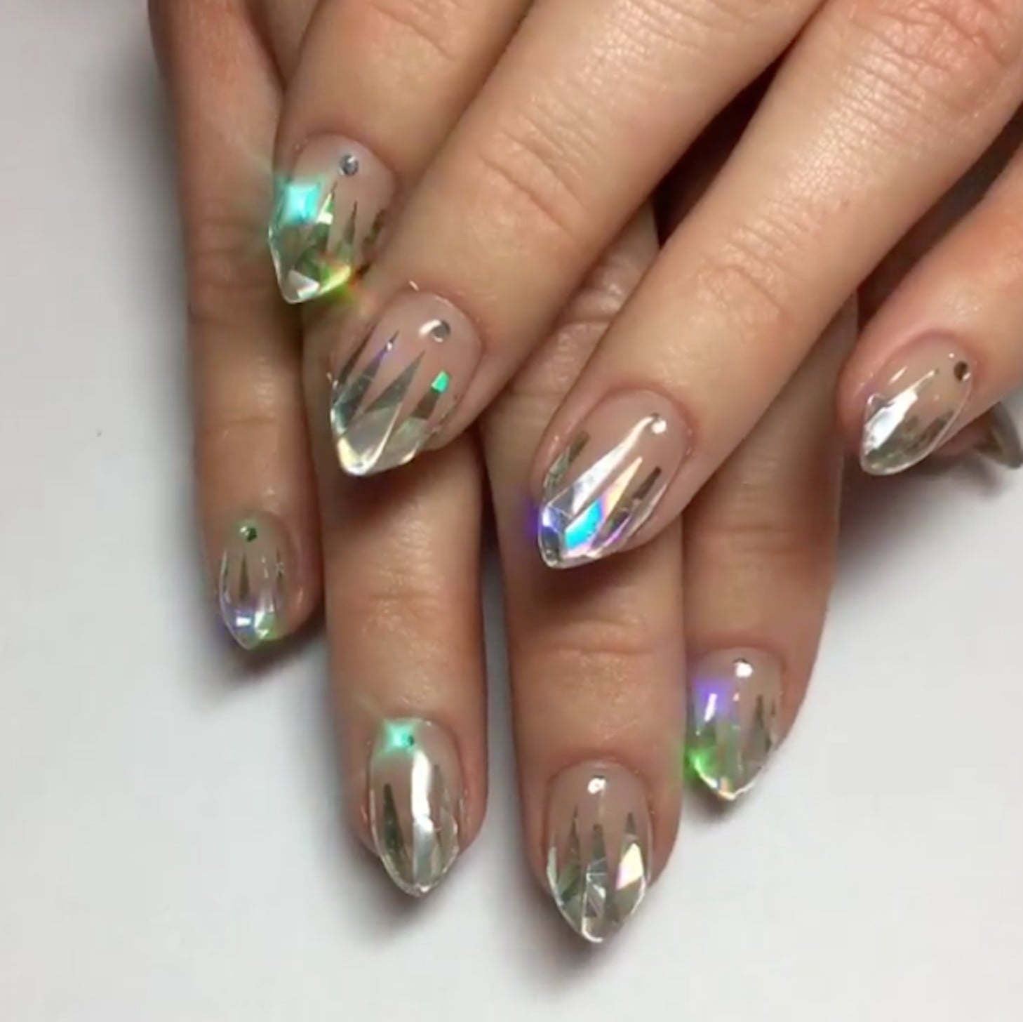 Unicorn Tipped Nail Art