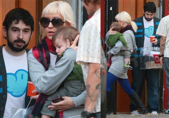 Photos of Christina Aguilera and Jordan Bratman Shopping With Max