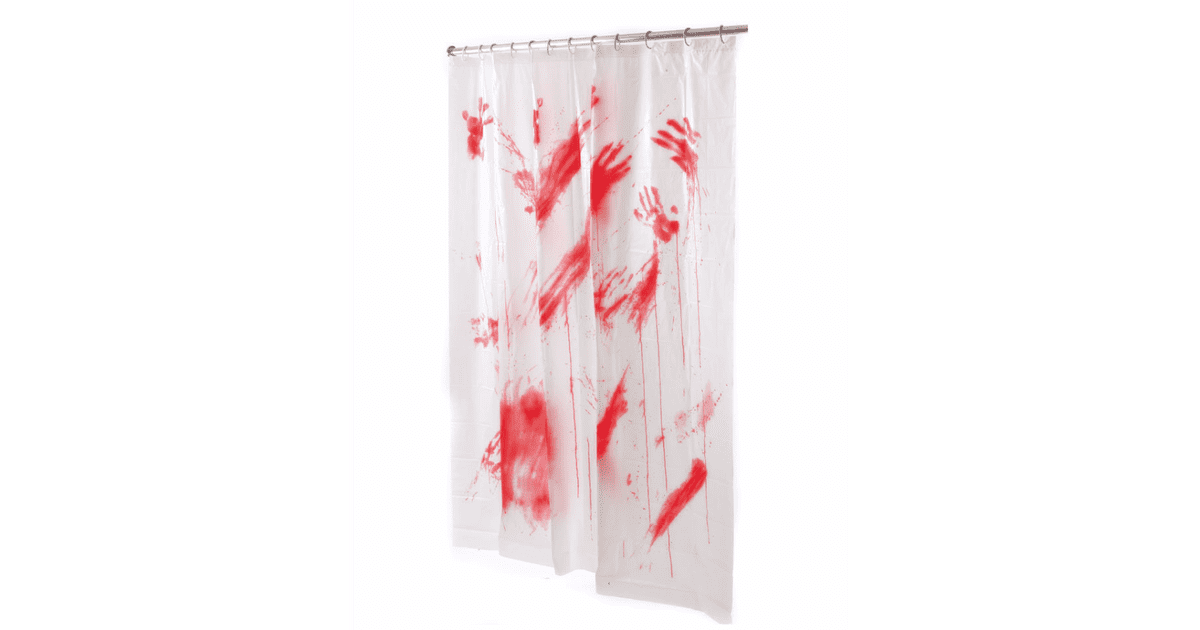 Bloody Shower Curtain 8
