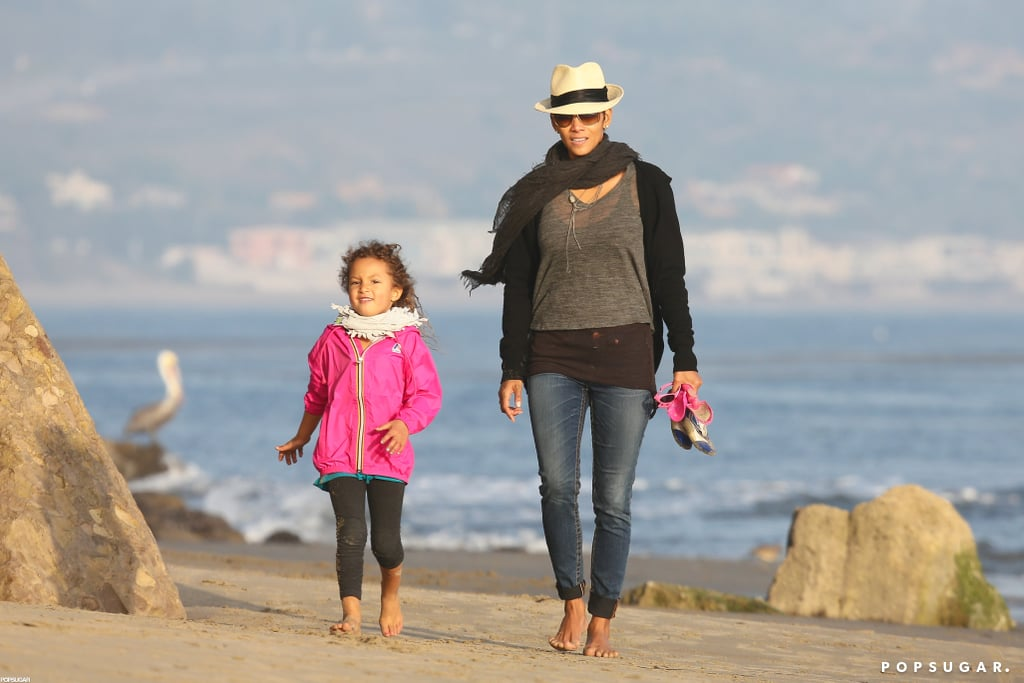 Halle Berry and daughter Nahla were all smiles at the beach.