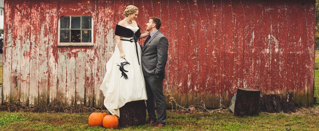 This Backyard Wedding Had Charming Rustic Halloween Decor