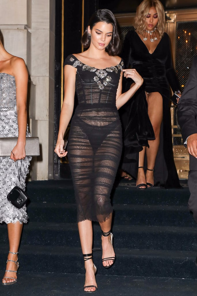 Kendall Jenner Wearing Sheer Outfits