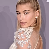 Hailey Baldwin's Braided Top Knot in February 2018