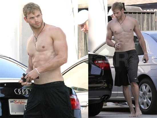 Shirtless Kellan Lutz Pictures Without Shoes in LA