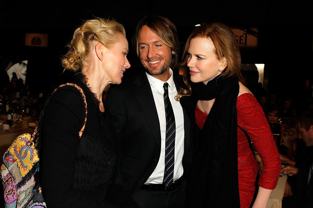 Naomi chatted with Nicole and her husband, Keith Urban, at the Independent Spirit Awards in February 2011.