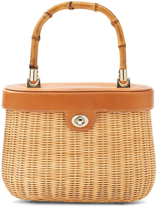 The bamboo handle on this J.Mclaughlin Ava wicker satchel ($198) gives it a vintage feel.