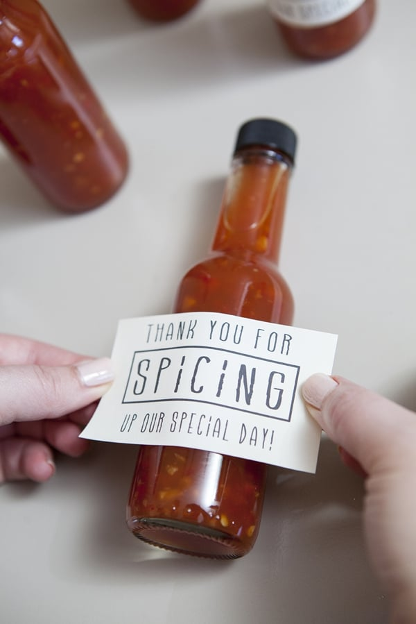Hot Sauce Wedding Favors