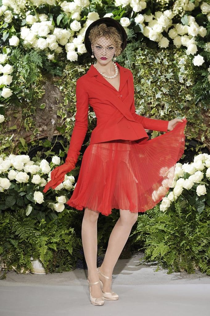 John Galliano Shows a Little Garter for Fall 2009 Christian Dior Couture