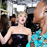 When Jennifer Lawrence Made This Face While Meeting Lupita Nyong'o