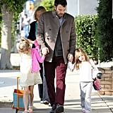 Seraphina and Violet spent time with their dad, Ben Affleck, in LA.