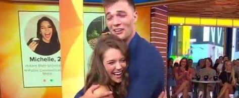 Tinder Couple That Didn't Meet For 3 Years Finally Met . . . On TV
