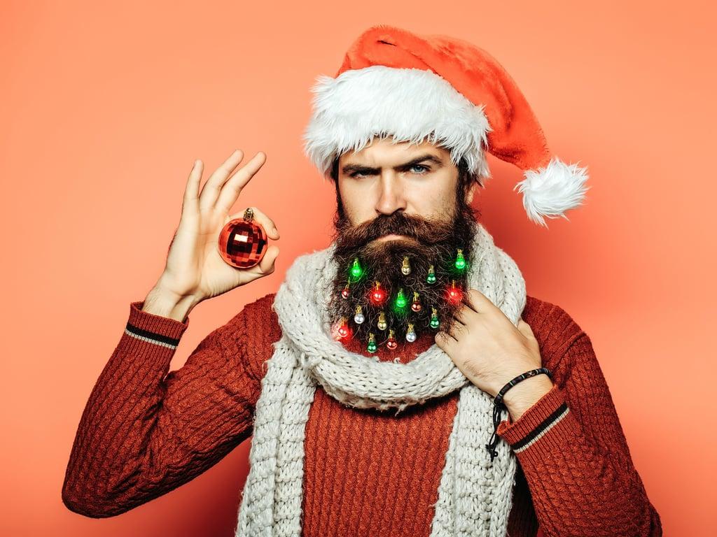Light-Up Beard Christmas Ornaments