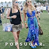 Nicky Hilton and Paris Hilton strolled the grounds.