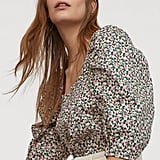 Cotton Puff-Sleeved Blouse