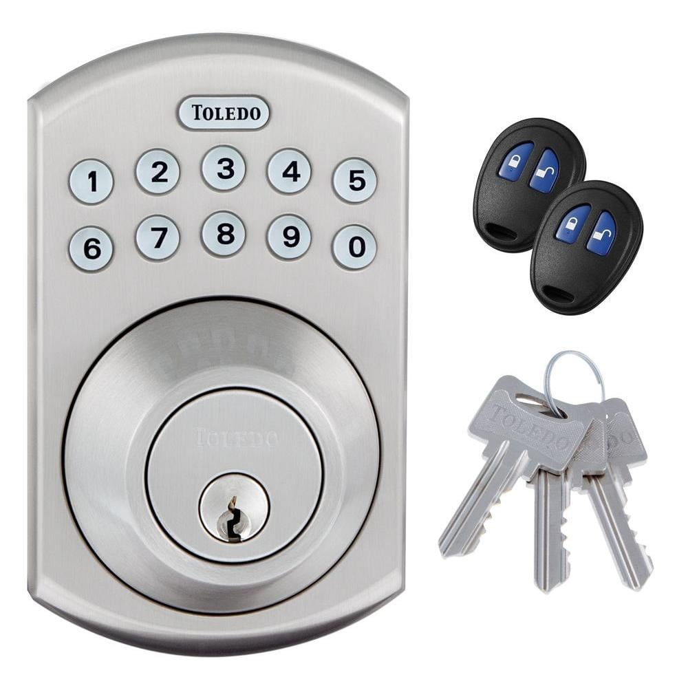 Toledo Fine Locks Electronic Stainless Steel Deadbolt with Remote Control