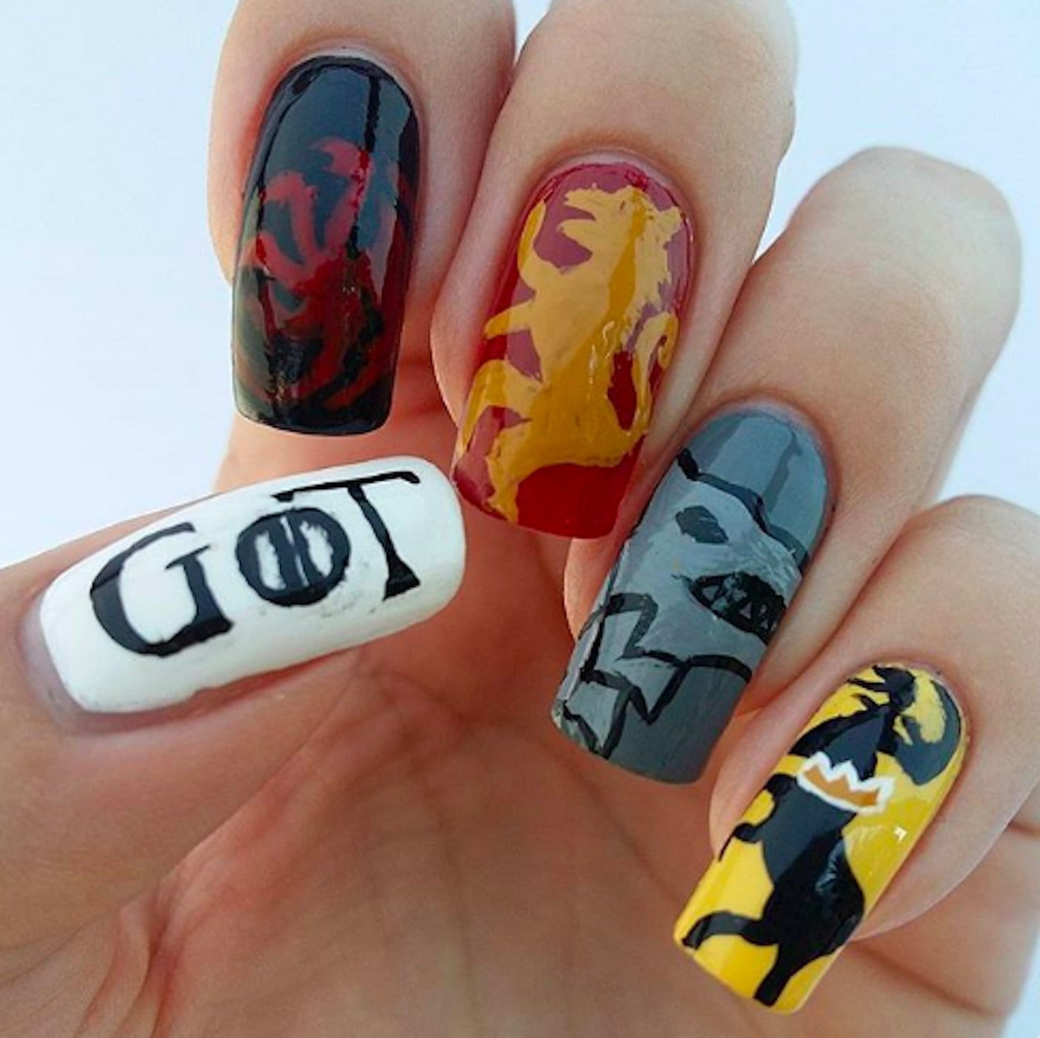Game of Thrones Nail Art | POPSUGAR Beauty