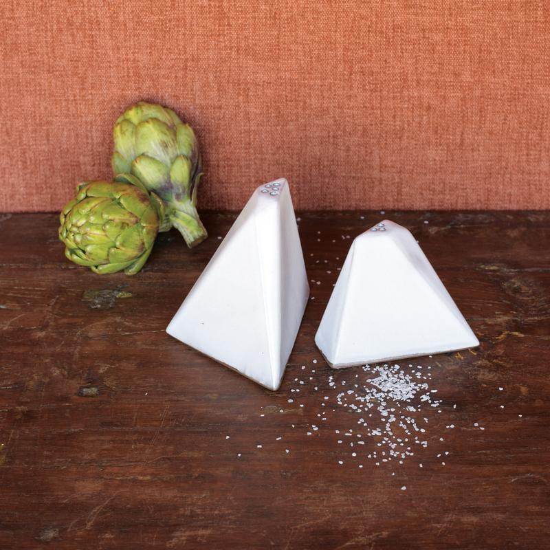 Jungalow Pyramid Salt + Pepper Shakers