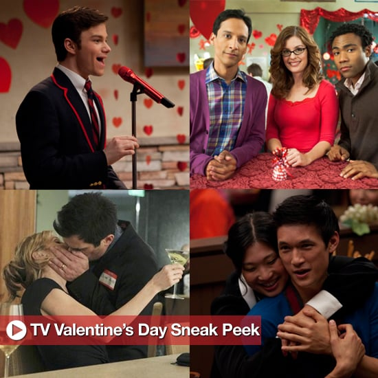 Glee, Community, and Modern Family Valentine's Day Episode Pictures