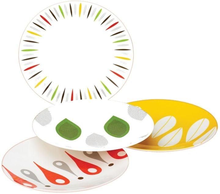 Dansk The Burbs 4-Piece Multicolored Party Plate Set ($19.99)
