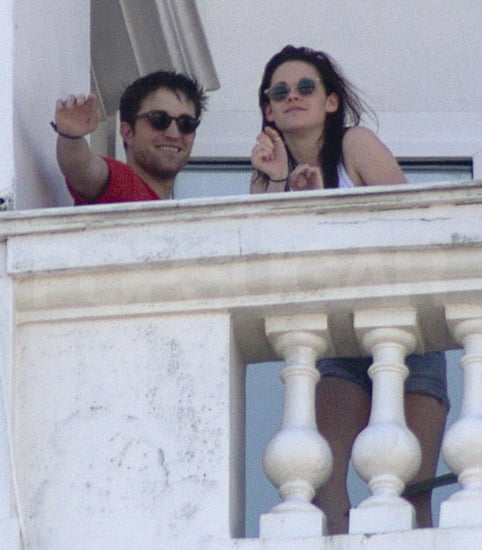 Pictures of Twilight Couple Robert Pattinson and Kristen Stewart On Balcony In Rio De Janeiro Brazil  Filming Breaking Dawn