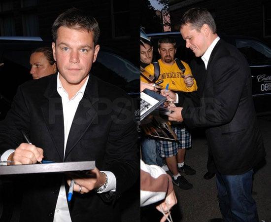 Matt Damon at the Toronto Film Festival For OneXOne Gala