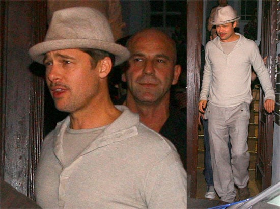 Photos of Brad Pitt and Diane Kruger Meeting with the Inglorious Bastard Cast in Germany