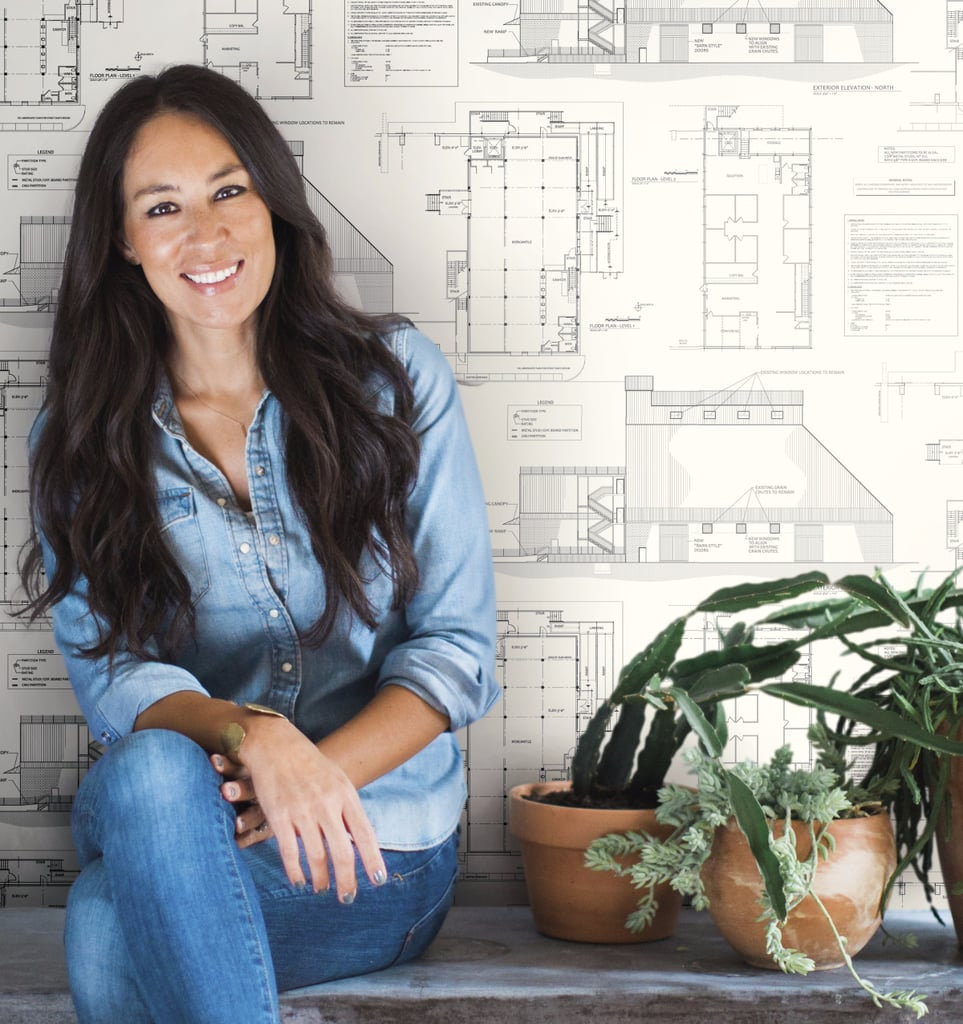 joanna gaines wallpaper popsugar home. Black Bedroom Furniture Sets. Home Design Ideas