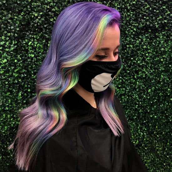 Rainbow Money Piece Hair Colour Trend 2021