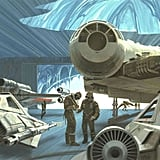 Ralph's painting of Hoth for Star Wars: The Empire Strikes Back. Source: StarWars.com