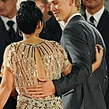 Austin kept a loving arm around Vanessa's back while attending the Venice Film Festival in September 2012.