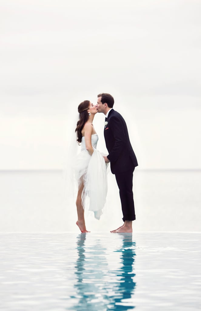 This couple's tiptoe water shot is one of our favorites.