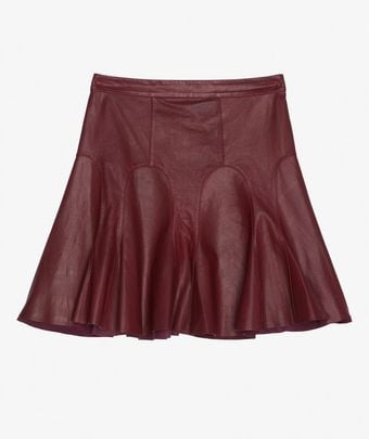 We love this bordeaux red miniskirt rendition.  10 Crosby Leather Skirt ($495)