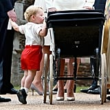 When Prince George Peered Into the Pram on His Tippy Toes