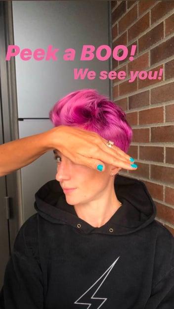 Megan Rapinoe's Magenta Hair Color