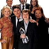With the cast of Two and a Half Men at the People's Choice Awards in January 2009.