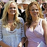 Geri Haliwell and Emma Bunton teamed up for the Buckingham Palace garden party in July 2006.