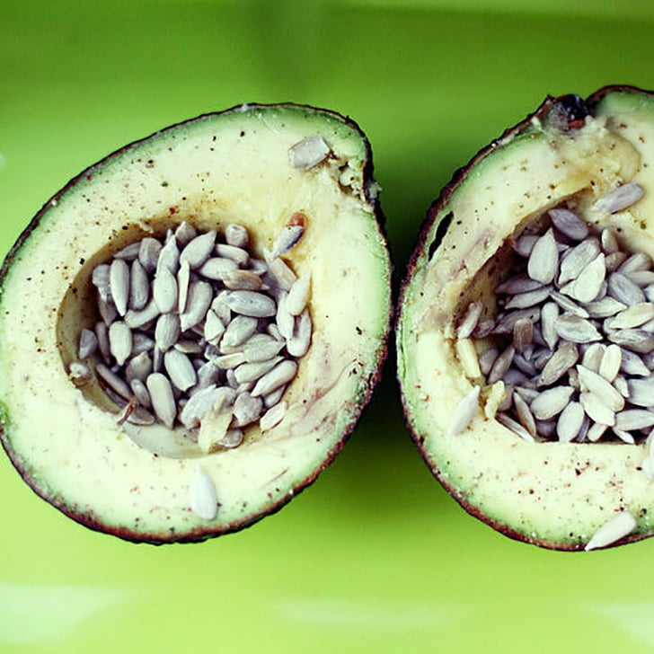 Snack: Avocado With Sunflower Seeds