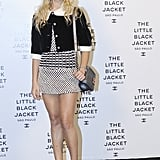 Alice Dellal made a fitting style decision at Chanel's Little Black Jacket event.