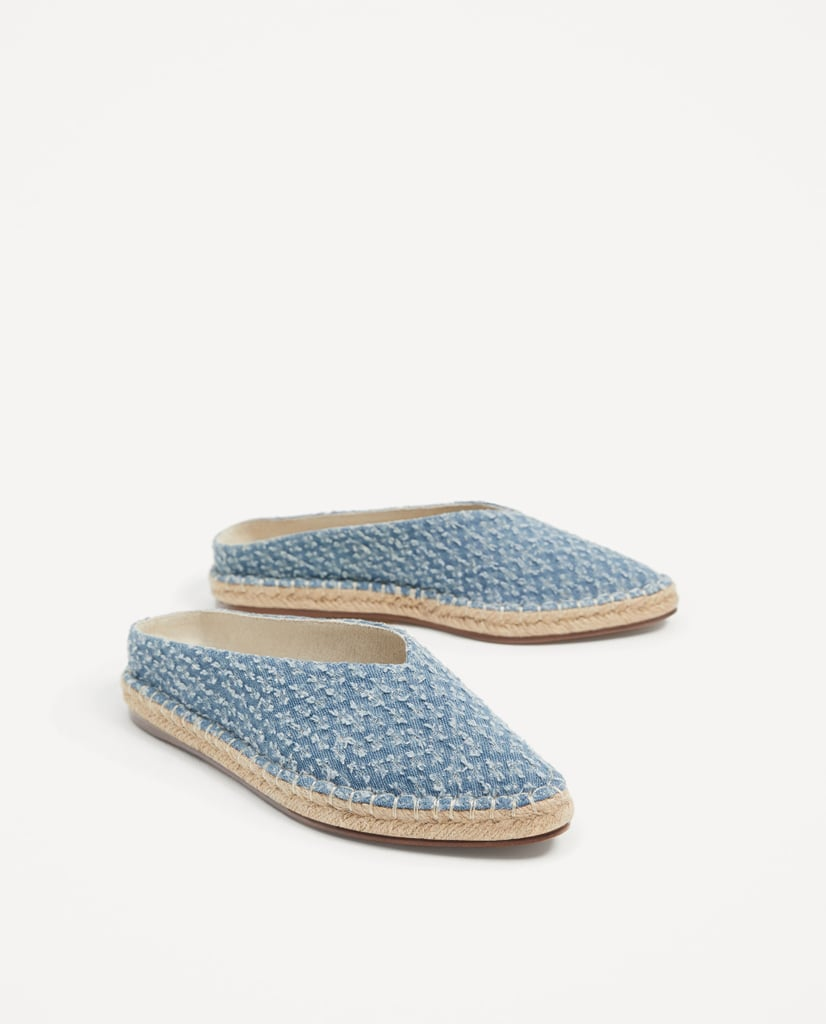 Zara's Fabric Mules ($30) are literally cut from the cloth.