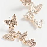 Butterfly Statement Drop Earrings