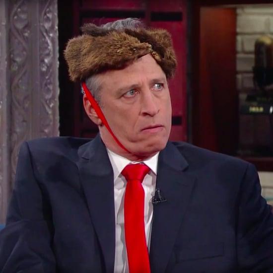 Jon Stewart Imitates President Trump