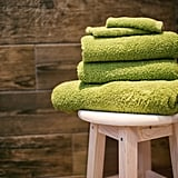 Put towels underneath heavy furniture to avoid ruining floors.