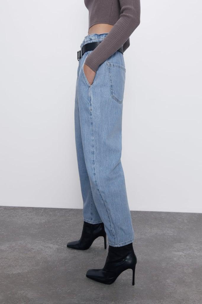 Zara Z1975 Baggy Paperbag Jeans