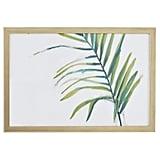 Rivet Modern Left Facing Palm Frond Frame